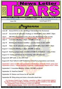 TDARS newsletter front cover for edition 284